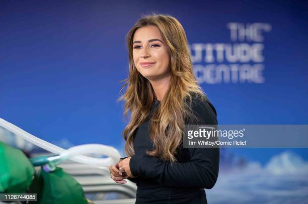 Dani Dyer during training for the Comic Relief Kilimanjaro climb on January 30 2019 in London England