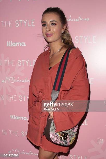 Dani Dyer seen attending In The Style Christmas party at Tonight Josephine on December 12 2018 in London England