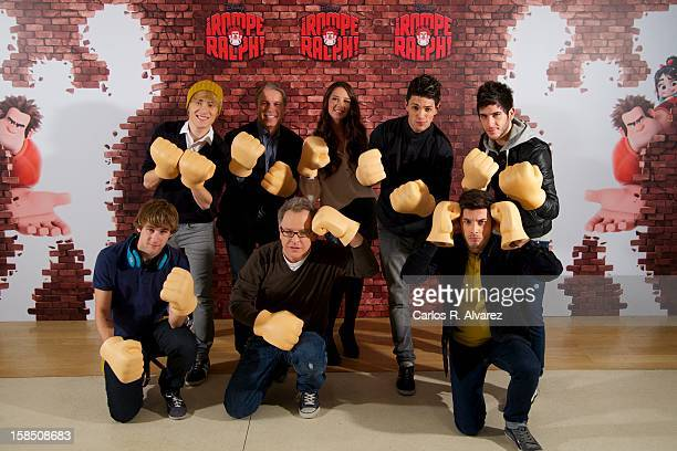 Dani Fernandez Carlos Perez producer Clark Spencer director Rich Moore Lorelay Bove David Martin Blas Canto and Alvaro Garcia attend the Rompe Ralph...