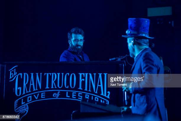 Dani Ferrer of Love of Lesbian performs on stage at the Sant Jordi Club on November 24 2017 in Barcelona Spain