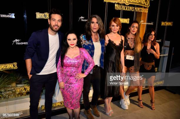 Dani Garcia Alaska and Mario Vaquerizo Cristina Castaño Paula Gonu and Macarena García attend at the Hotel Transilvania 3 Ibiza Premiere on June 28...