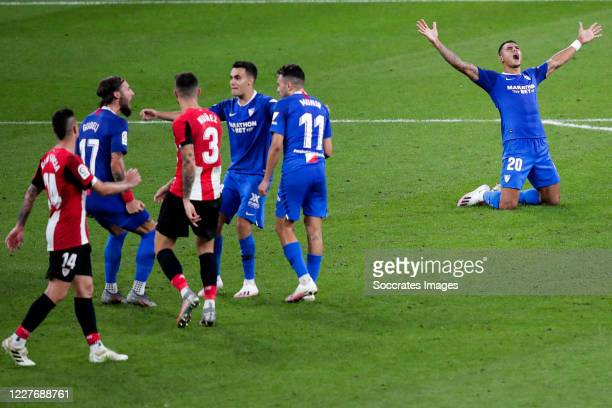 Dani Garcia of Athletic Bilbao Gudelj of Sevilla FC Unai Nunez of Athletic Bilbao Reguilon of Sevilla FC Munir of Sevilla FC Diego Carlos of Sevilla...