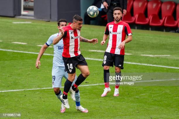 Dani Garcia of Athletic BilbaoDiego Costa of Atletico Madrid Unai Lopez of Athletic Bilbao during the La Liga Santander match between Athletic de...