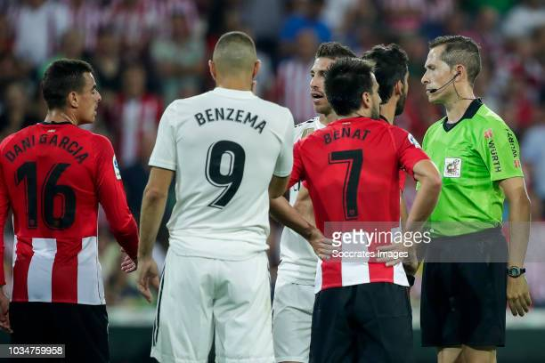 Dani Garcia of Athletic Club Bilbao Karim Benzema of Real Madrid CF Sergio Ramos Garcia of Real Madrid CF Benat Etxebarria Urkiaga of Athletic Club...