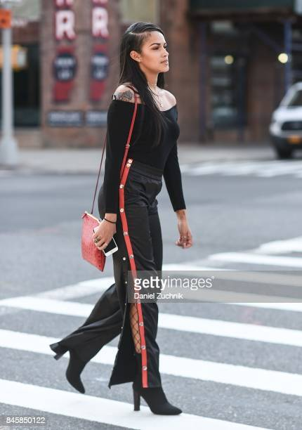 Dani is seen outside the 31 Phillip Lim show during New York Fashion Week Women's S/S 2018 on September 11 2017 in New York City