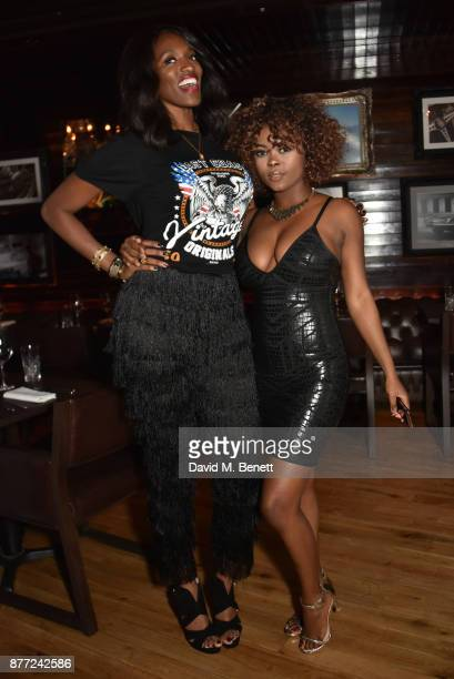 Dani J and Gifty Louise attend Mason Smillie's birthday party at McQueen on November 21 2017 in London England