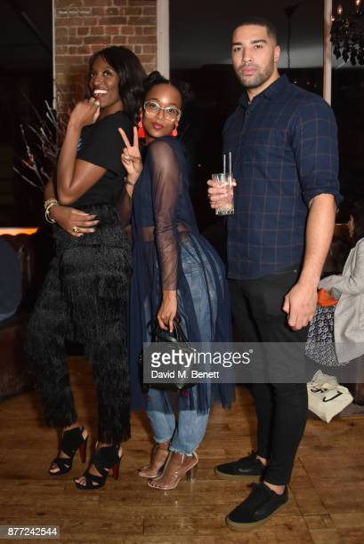 Dani J Annaliese Dayes and Omari Caro attend Mason Smillie's birthday party at McQueen on November 21 2017 in London England