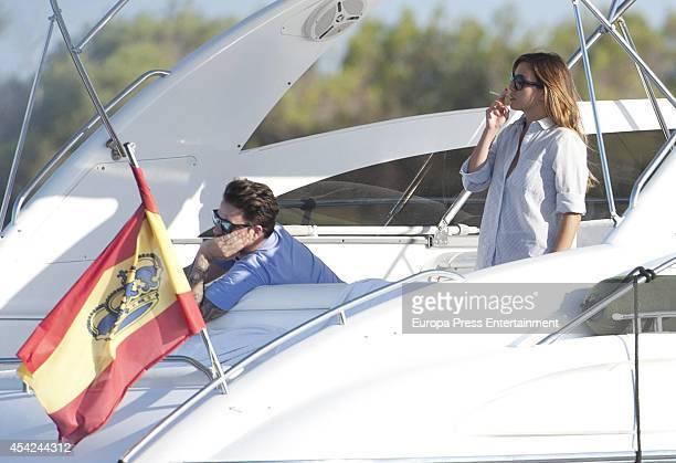 Dani Martin and Blanca Suarez are seen on August 25 2014 in Ibiza Spain