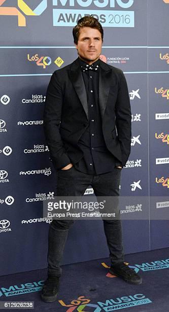 Dani Martin attends '40 Principales Awards' 2016 Nominees Dinner on October 5 2016 in Madrid Spain