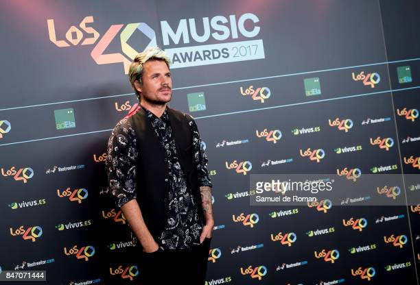Dani Martin attends 40 Principales Awards candidates dinner 2017 on September 14 2017 in Madrid Spain
