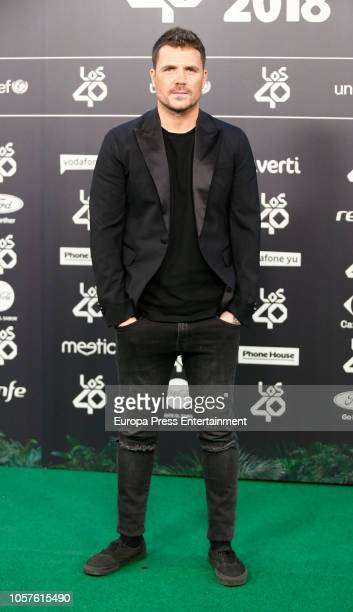 Dani Martin attends 'LOS40 Music Awards' 2018 at WiZink Center on November 2 2018 in Madrid Spain