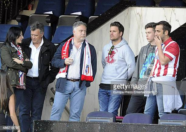 Dani Martin attends the UEFA Champions League semi final match between Club Atletico de Madrid and Chelsea FC on April 22 2014 in Madrid Spain