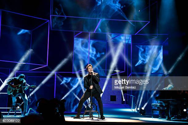 Dani Martin performs during the 63th Ondas Gala Awards 2016 on stage at the Gran Teatre del Liceu on November 9 2016 in Barcelona Spain