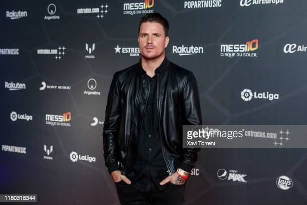 Dani Martin poses on the red carpet during the premiere of 'Messi 10' by Cirque du Soleil on October 10 2019 in Barcelona Spain
