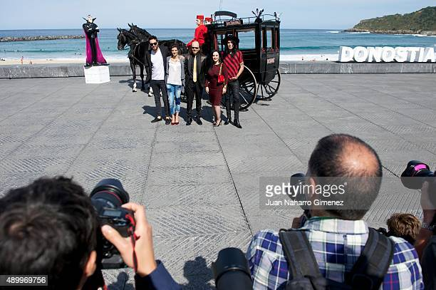 Dani Martinez Clara Lago Santiago Segura Alaska and Mario Vaquerizo attend 'Hotel Transylvania' photocall during 63rd San sebastian Film Festival at...