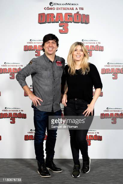Dani Moreno and Cristina Boscá attend the 'Como Entrenar A Tu Dragon 3' Madrid photocall on February 19 2019 in Madrid Spain