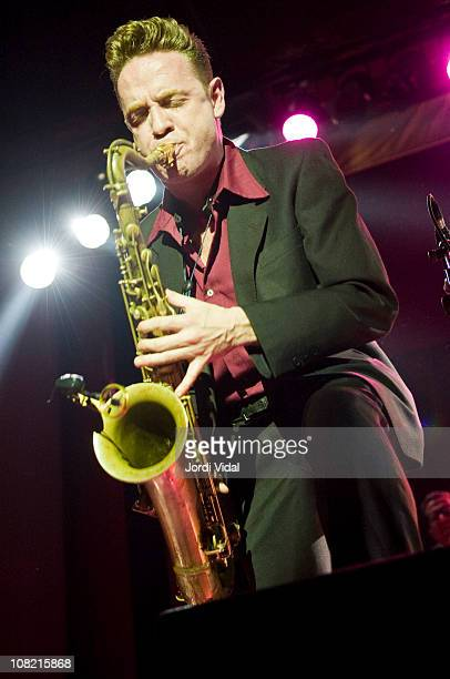 Dani Nello of Mambo Jambo performs on stage during 'Taboo Barcelona Burlesque Night' at Sala Apolo on January 20 2011 in Barcelona Spain