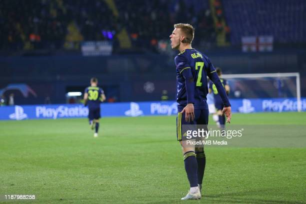 Dani Olmo of Dinamo Zagreb celebrate a goal during the UEFA Champions League group C match between Dinamo Zagreb and Manchester City at Maksimir...