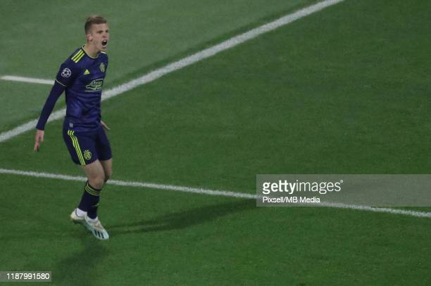 Dani Olmo of Dinamo Zagreb reacts during the UEFA Champions League group C match between Dinamo Zagreb and Manchester City at Maksimir Stadium on...