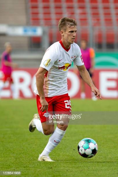 Dani Olmo of RB Leipzig during the DFB Cup first round match between 1 FC Nuernberg and RB Leipzig at MaxMorlockStadion on September 12 2020 in...