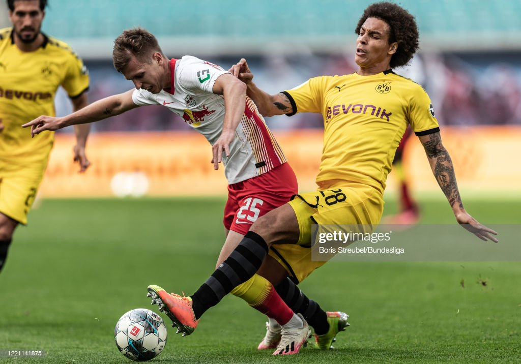 Dani Olmo Of Rb Leipzig In Action With Axel Witsel Of Borussia News Photo Getty Images