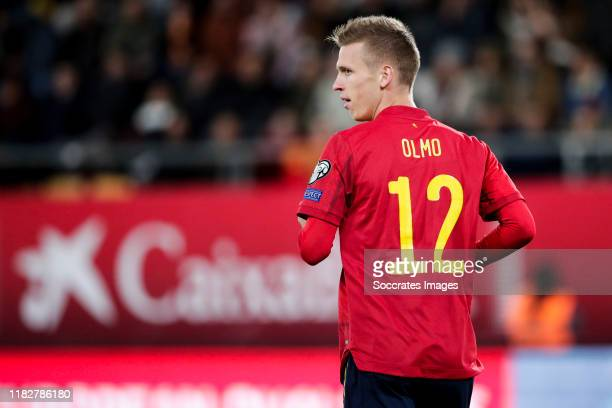 Dani Olmo of Spain during the EURO Qualifier match between Spain v Malta on November 15 2019
