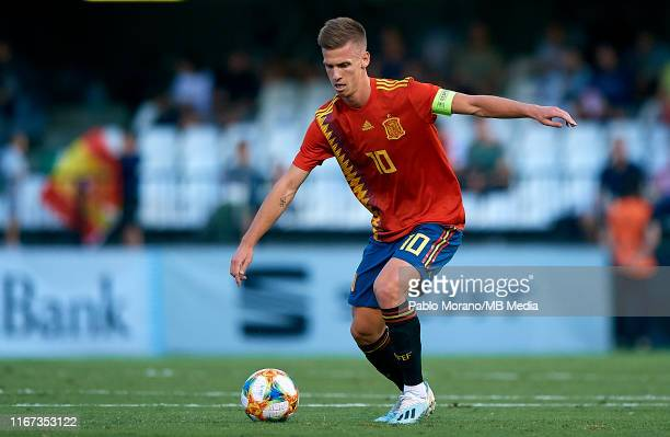 Dani Olmo of Spain in action during the UEFA European Under21 Championship Qualifying match between Spain U21 and Montenegro U21 on September 10 2019...