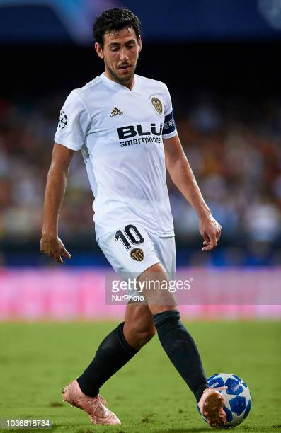 Dani Parejo of Valencia CF in action during the UEFA Champions League group H match between Valencia CF and Juventus at Mestalla on September 19 2018...