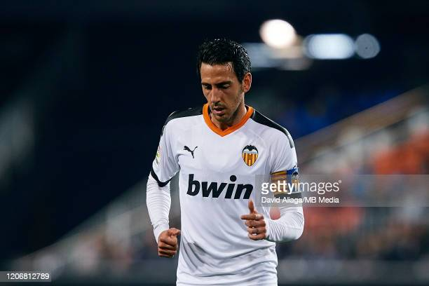 Dani Parejo of Valencia CF looks on during the Liga match between Valencia CF and Club Atletico de Madrid at Estadio Mestalla on February 14 2020 in...