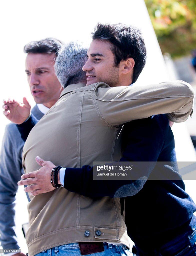 Dani Pedrosa arrives to the Funeral Tribute For Angel Nieto in Madrid on September 16, 2017 in Madrid, Spain.