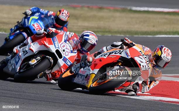 Dani Pedrosa of Repsol Honda Team in action during the MotoGP of San Marino race at Misano World Circuit on September 11 2016 in Misano Adriatico...