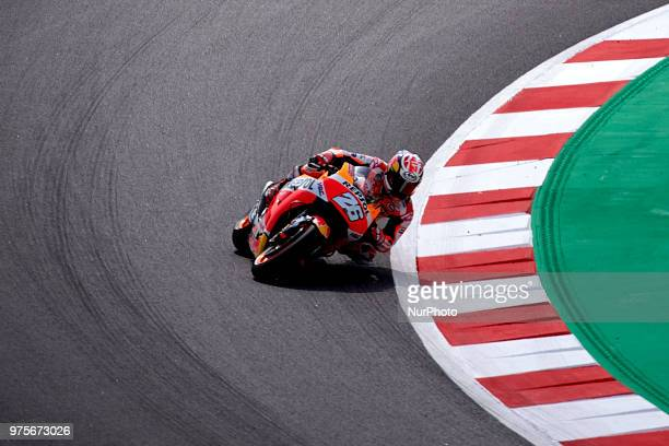 Dani Pedrosa of Spain and Repsol Honda Team during the free practice of the Gran Premi Monster Energy de Catalunya Circuit of Catalunya Montmelo...