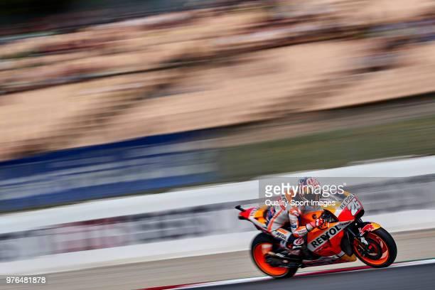 Dani Pedrosa of Spain and Repsol Honda Team rides during free practice for the MotoGP of Catalunya at Circuit de Catalunya on at Circuit de Catalunya...