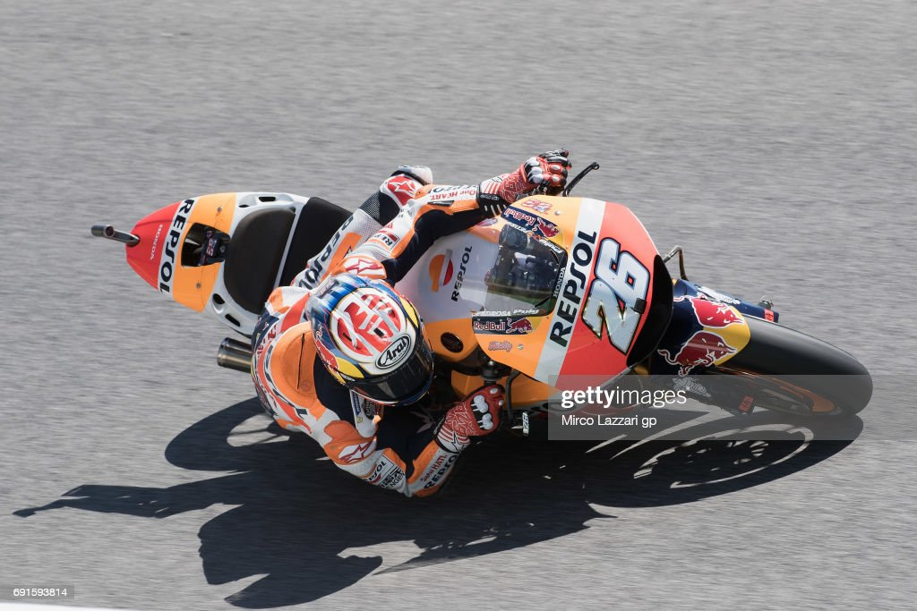 4a10cdce02 Dani Pedrosa of Spain and Repsol Honda Team rounds the bend during the  MotoGp of Italy