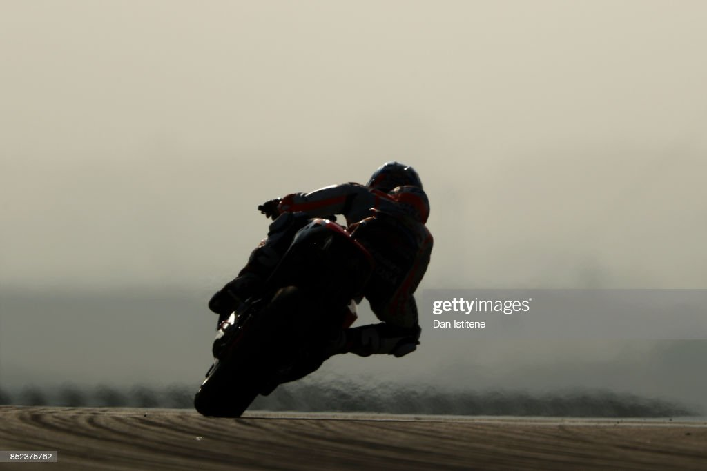 Dani Pedrosa of Spain and the Repsol Honda Team rides during practice for the MotoGP of Aragon at Motorland Aragon Circuit on September 23, 2017 in Alcaniz, Spain.