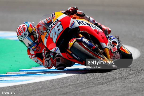 Dani Pedrosa of Spain and the Repsol Honda Team rides during the MotoGP of Spain at Circuito de Jerez on May 7 2017 in Jerez de la Frontera Spain
