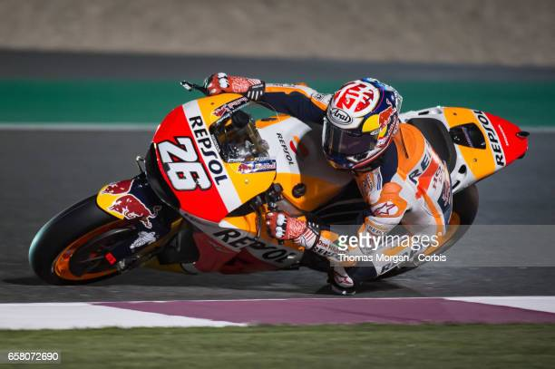 Dani Pedrosa of Spain who rides Honda for Repsol Honda during free practice session 1 during the Grand Prix of Qatar on March 23 2017 in Doha Qatar