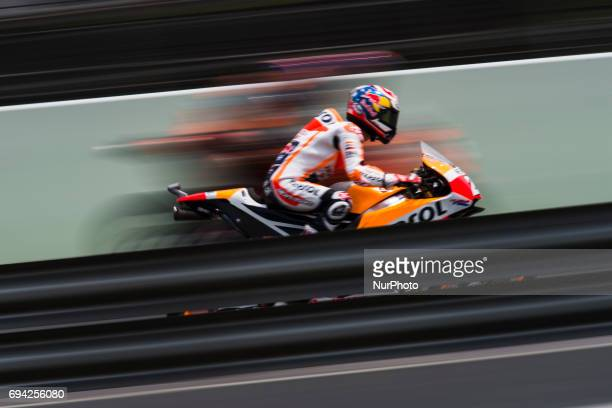 Dani Pedrosa Repsol Honda Team Honda during a free practice of the Gran Premi Monster Energy de Catalunya Circuit of MontmeloThursday June 09 2017