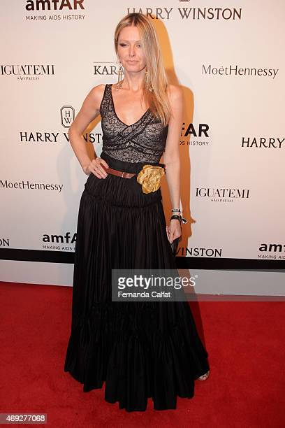 Dani Pizetta attends the 5th Annual amfAR Inspiration Gala at the home of Dinho Diniz on April 10 2015 in Sao Paulo Brazil