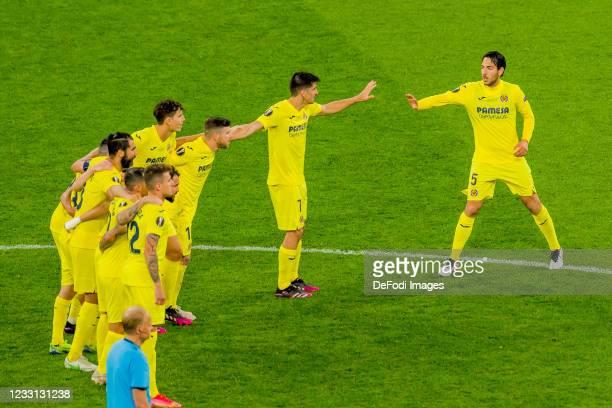 Dani Raba of Villarreal CF, Paco Alcacer of Villarreal CF, Raul Albiol of Villarreal CF, Pau Torres of Villarreal CF, Alberto Moreno of Villarreal...