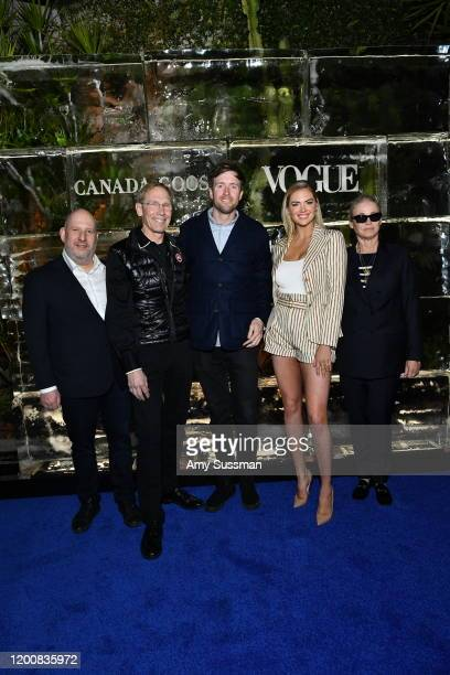 Dani Reiss CEO of Canada Goose Dr Steven Amstrup Chief Scientist at Polar Bears International Max Lowe director of Bare Existence Kate Upton and Lisa...