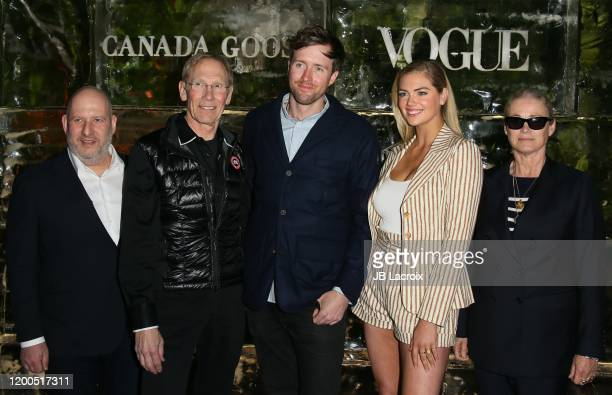 Dani Reiss President CEO of Canada Goose Dr Steven C Amstrup Max Lowe Kate Upton and Lisa Love attend Canada Goose and Vogue host Cocktails and...