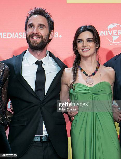 Dani Rovira and Clara Lago attend the 'Ocho Apellidos Catalantes' Premiere at capitol Cinema on November 18 2015 in Madrid Spain