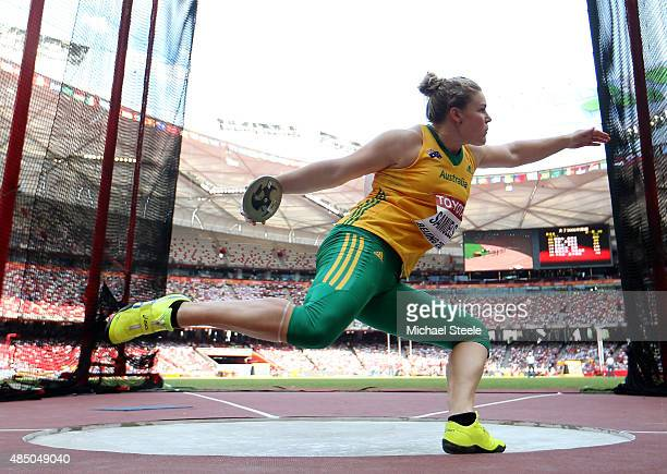 Dani Samuels of Australia competes in the Women's Discus qualification during day three of the 15th IAAF World Athletics Championships Beijing 2015...