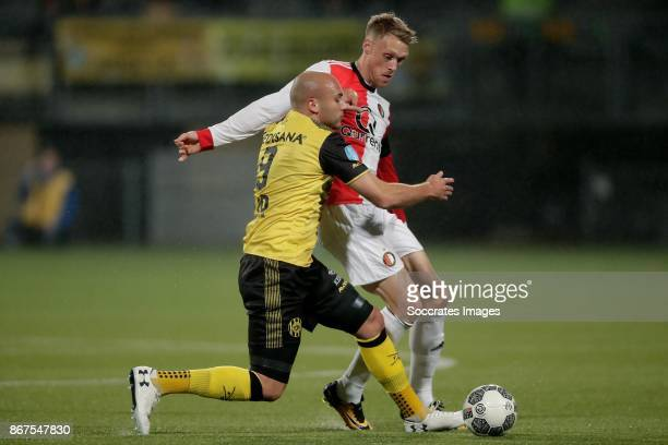 Dani Schahin of Roda JC, Nicolai Jorgensen of Feyenoord during the Dutch Eredivisie match between Roda JC v Feyenoord at the Parkstad Limburg Stadium...