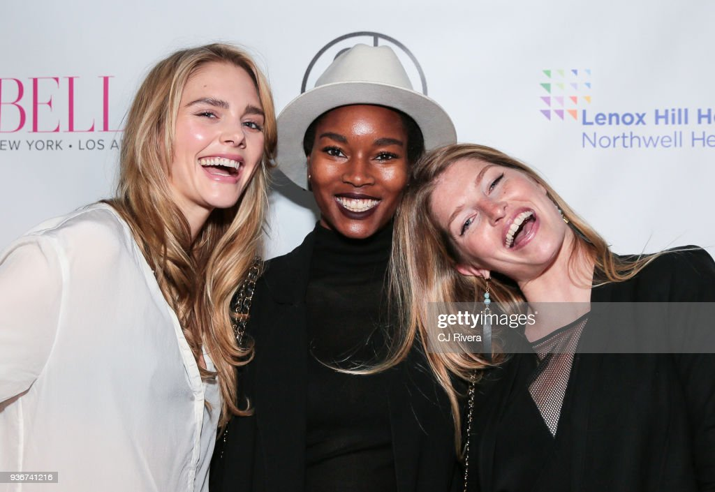Dani Seitz, Damaris Lewis, and Heide Lindgren attend the Bella New York's Influencer Cover Party at Mr. Jones on March 22, 2018 in New York City.