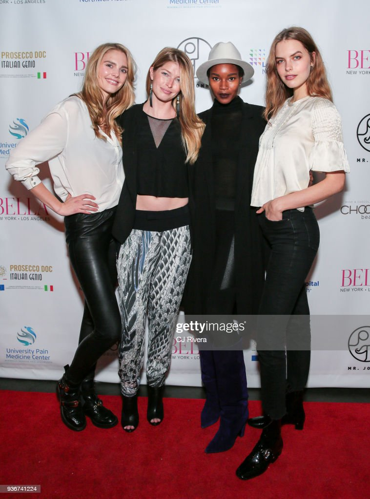 Dani Seitz, Heide Lindgren, Damaris Lewis, and Carey Murphy attend the Bella New York's Influencer Cover Party at Mr. Jones on March 22, 2018 in New York City.