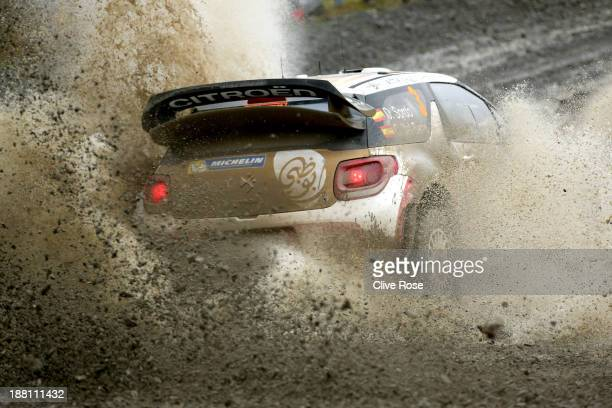 Dani Sordo and Carlos Del Barrio of Spain compete in the Citroën Total Abu Dhabi WRT during the sweet lamb stage of the FIA World Rally Championship...