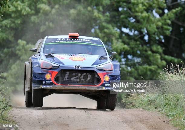 Dani Sordo ESP Marc Marti ESP during the WRC Orlen 74 Rally Poland on July 01 2017 in Mikolajki Poland