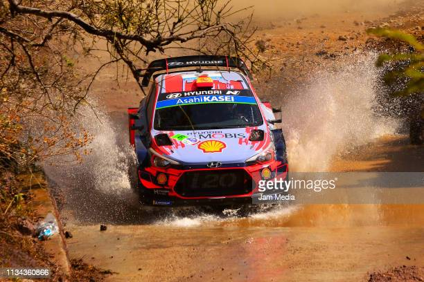 Dani Sordo of Spain and Carlos Del Barrio of Spain compete with the Hyundai Shell Mobis WRT during the FIA World Rally Championship Guanajuato Mexico...